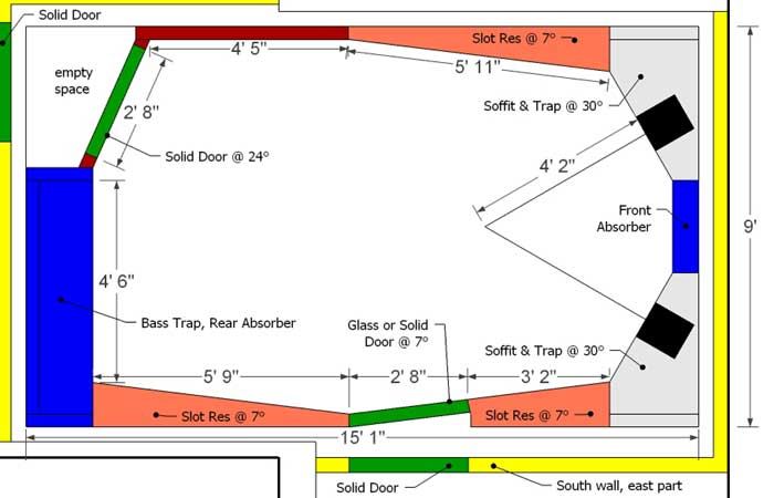 Recording studio floor plans pdf for Best flooring for recording studio