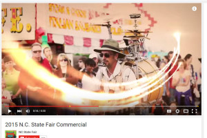 Featured in NC State Fair 2015 TV Commercial